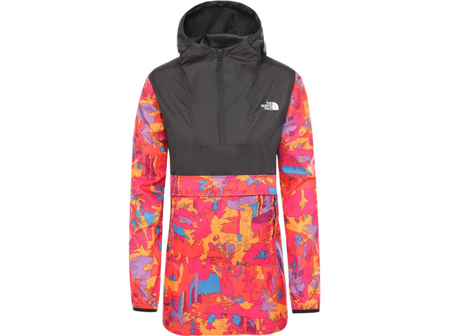 The North Face Printed Fanorak Damer, mr.pink new dimensions print/tnf black